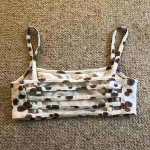 Women/'s Mudd Black Bralette With Cage Caged Back Size Large